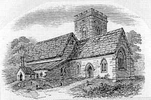 The previous church at Calverton