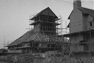 The church under construction