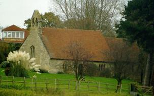 The church from Linford Lane