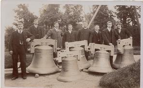 New Bells in churchyard